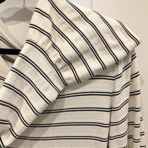 Ann Taylor Bell Sleeve Striped Sweater (light).